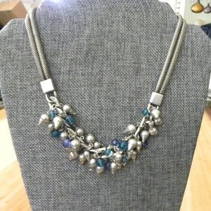 Silver Steampunk Style Necklace